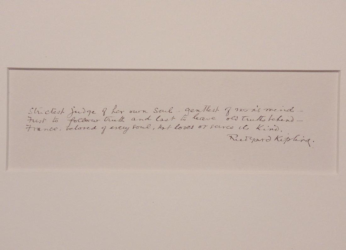 Kipling, Rudyard.  Autograph Poetry Signed - 2