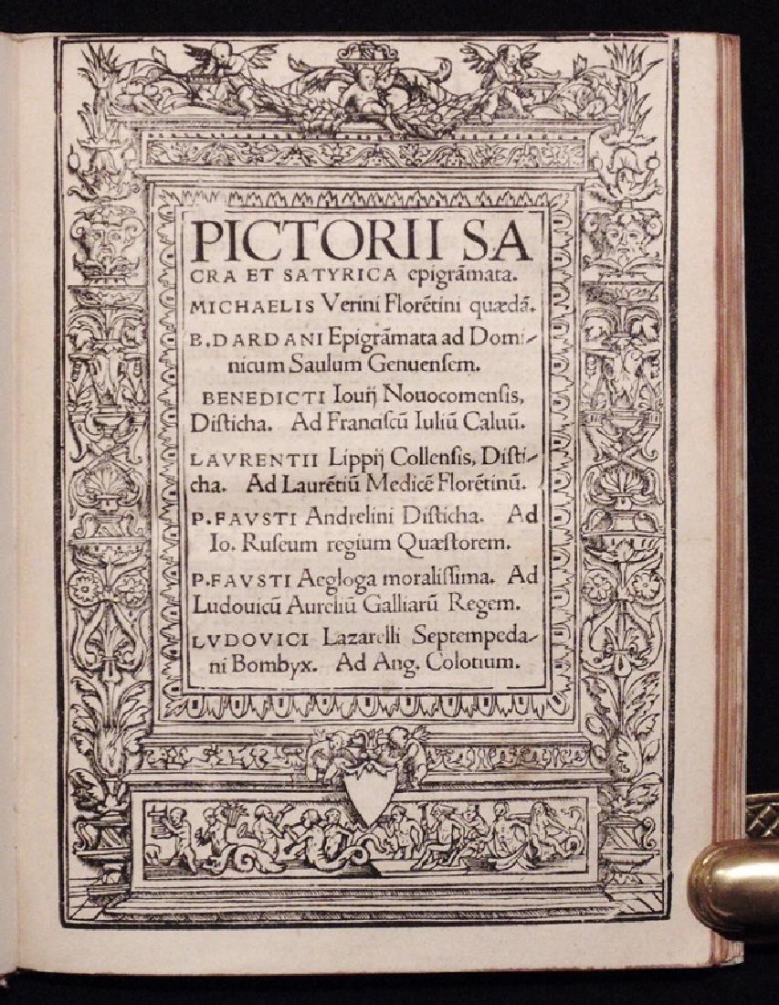 [Neolatin Poets]  Sacra et Satyrica Epigrammata