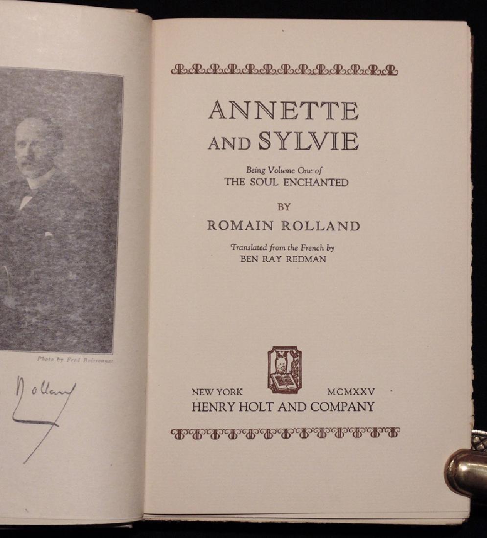 Rolland, Romain.  Annette & Sylvie [SIGNED] - 2