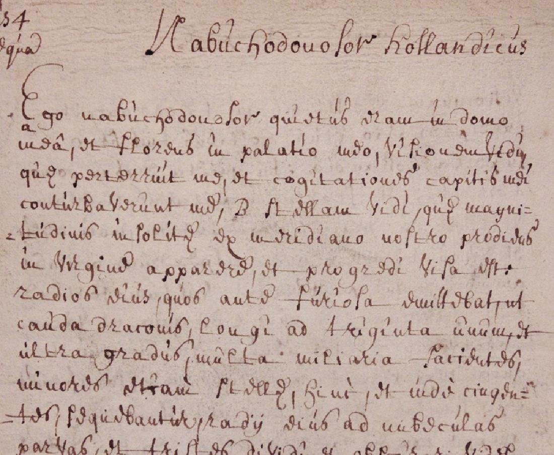 Dutch Prophecy, 17th c. Manuscript