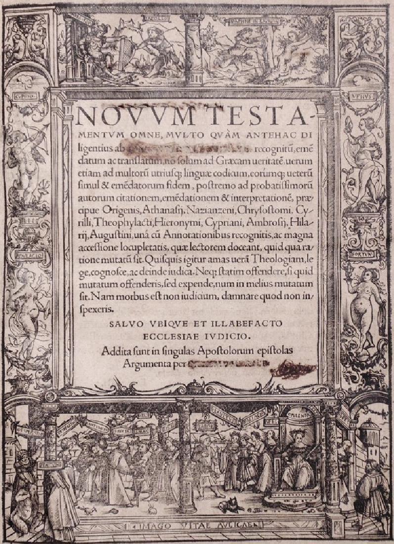 Erasmus. New Testament in Greek & Latin, 1519