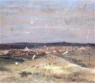 [Oil Painting on Board] View of Jerusalem, 1868