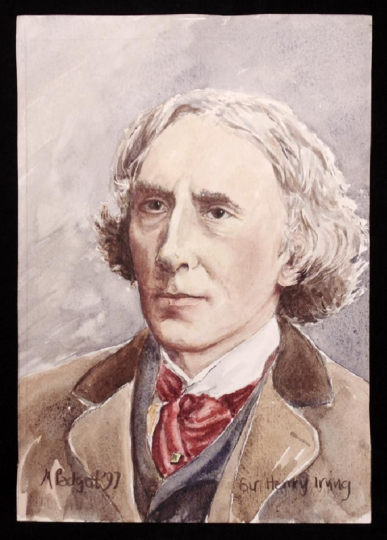 [Henry Irving]  Watercolor Painting