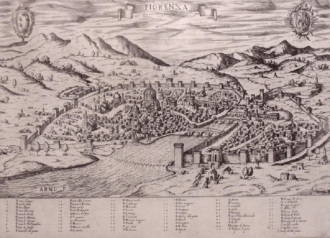 [Map of Florence]  Duchetti, ca. 1580s