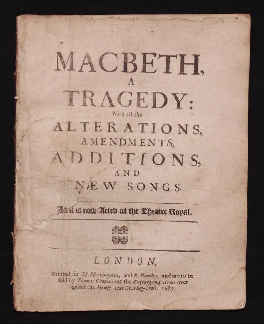 Shakespeare, William.  Macbeth, 1687