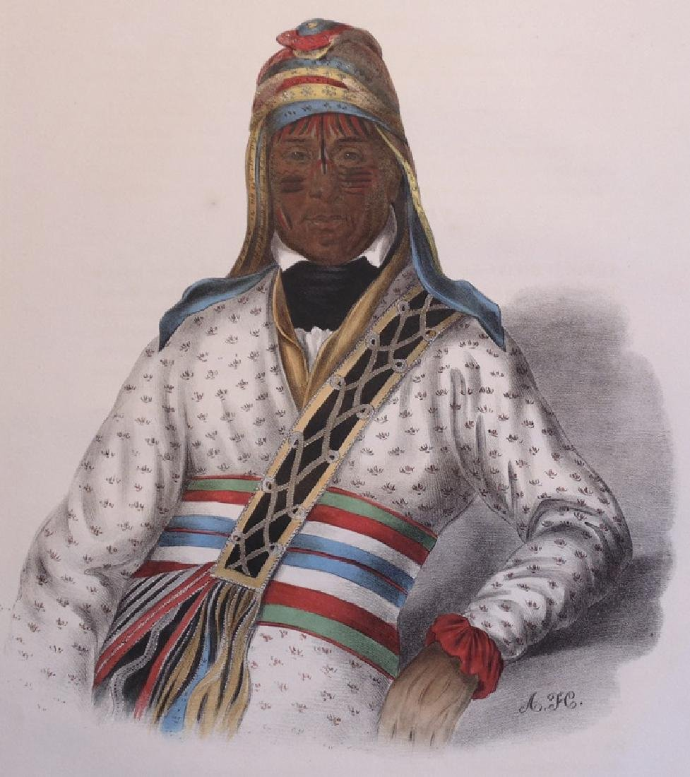Yoholo-Micco, Creek Chief.  Hand-colored Litho