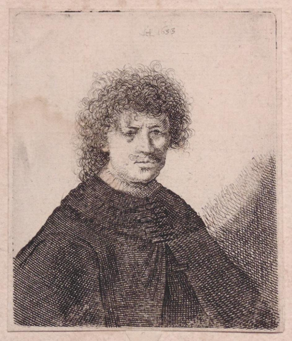Rembrandt Self-Portrait, Etching