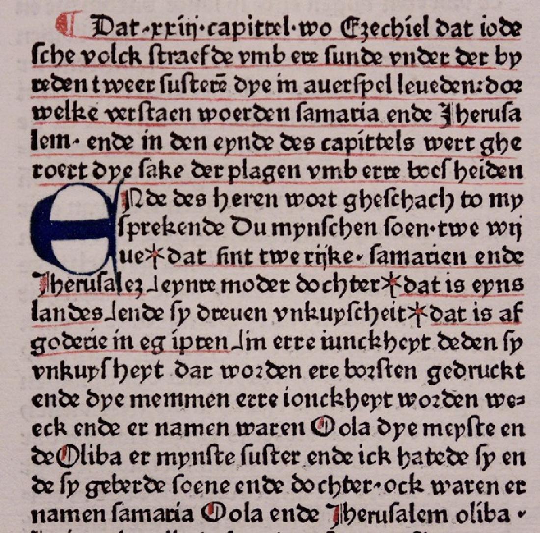 [Bible, in Low German, 1478]
