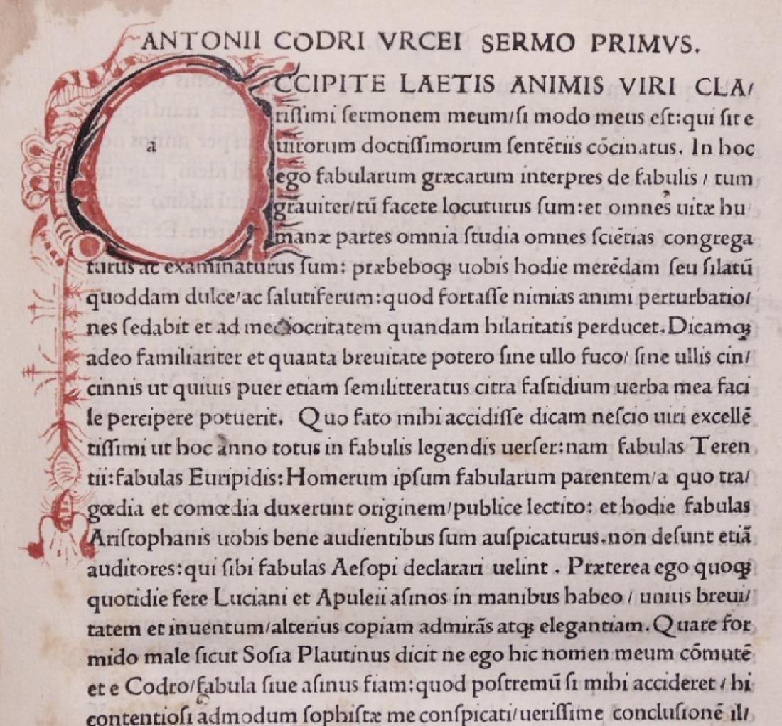 [Science, Satire, Humanism]  Antonio Urceo, 1502