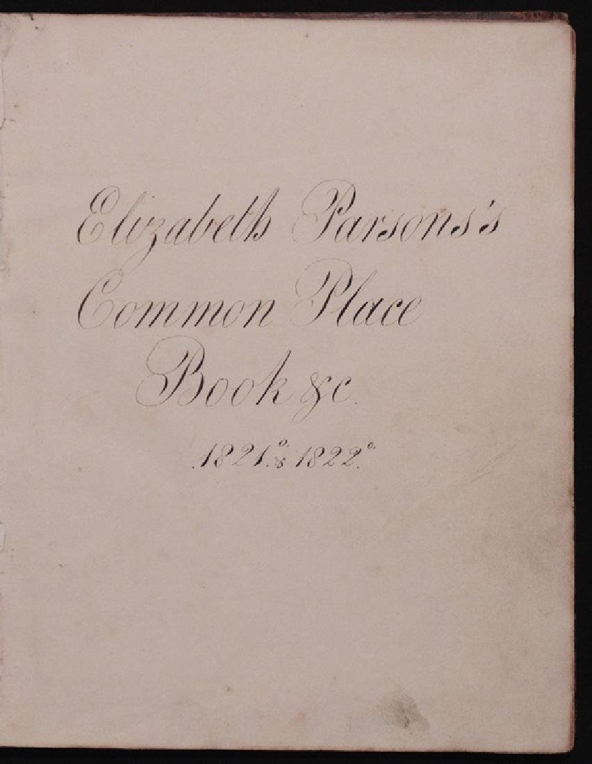 19th c. Manuscript Commonplace Books