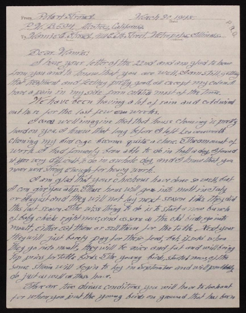 "[Alcatraz]  MS Letter by ""Bird Man"" Stroud"