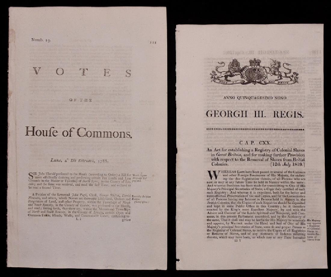 [Slavery, Votes of House of Commons, a Pair]