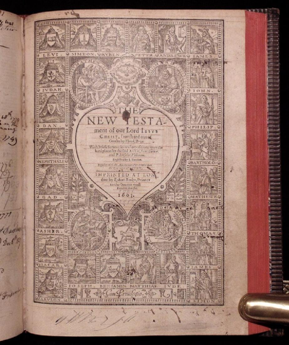 Bible. Geneva Version, Robert Barker, 1603