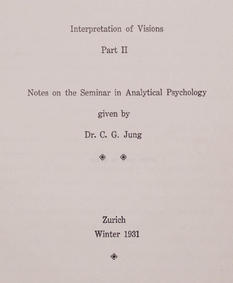 Carl Jung.  Interpretation of Visions, 1931