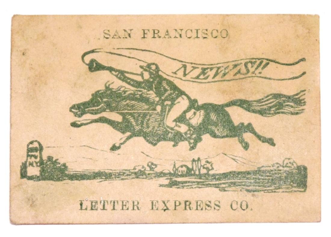 [San Francisco, Pony Express, Stamps, Philately]