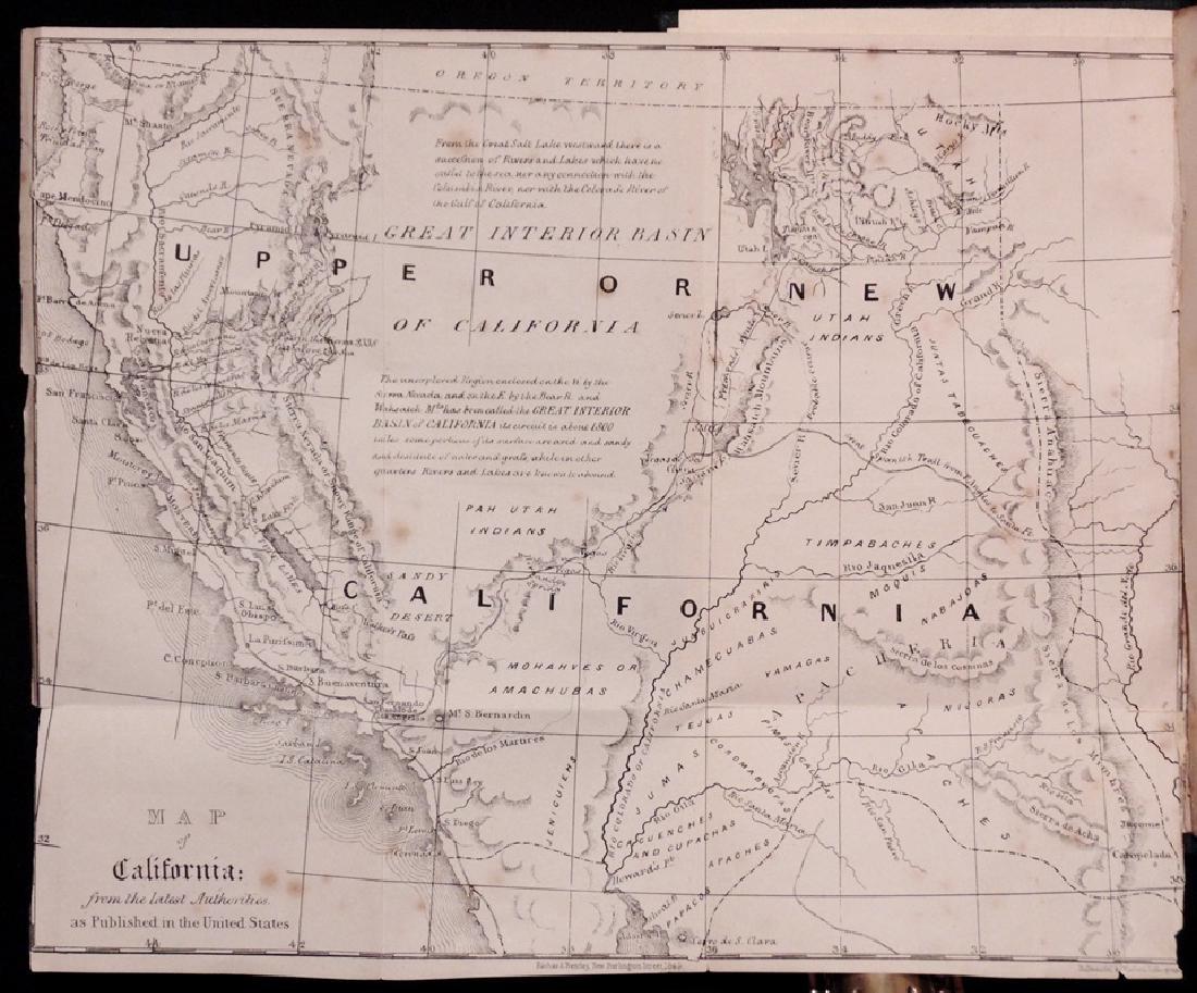 [California, Map] What I Saw in California, 1849