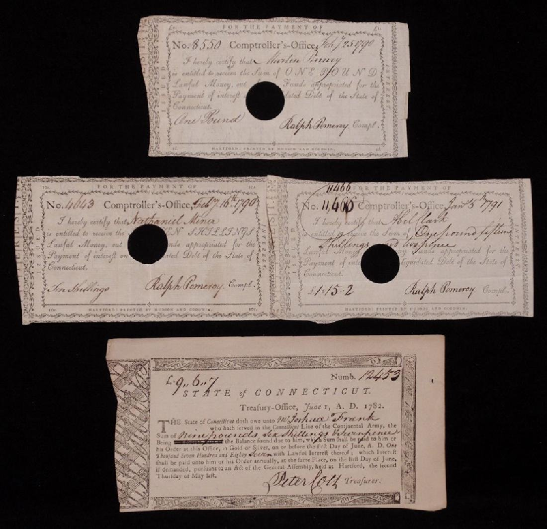[Connecticut] Revolutionary War, Treasury Notes