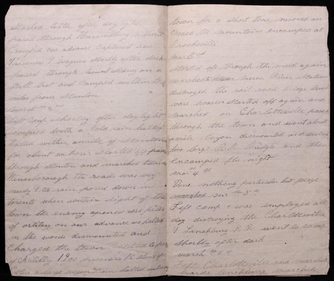 Sheridan's Raid, Manuscript Diary, 1865