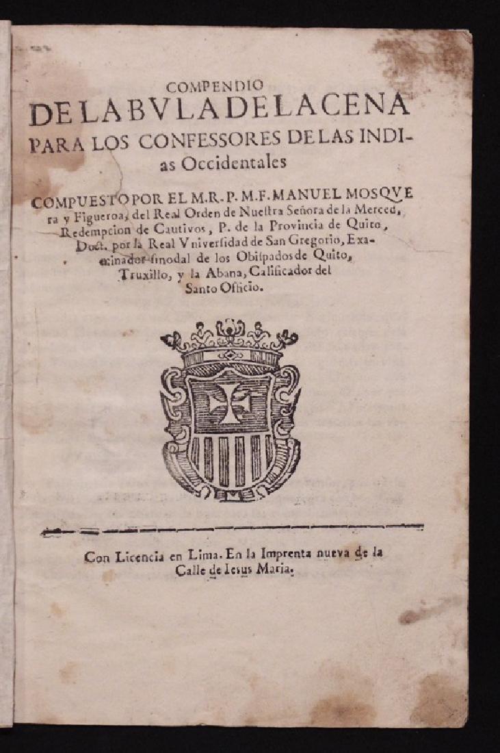 [West Indies, Papal Bulls, Lima Imprint]