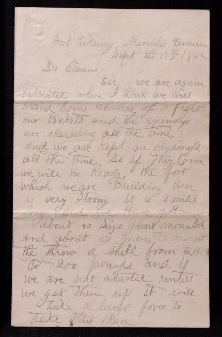 [Civil War]  Manuscript Letter by Union Soldier