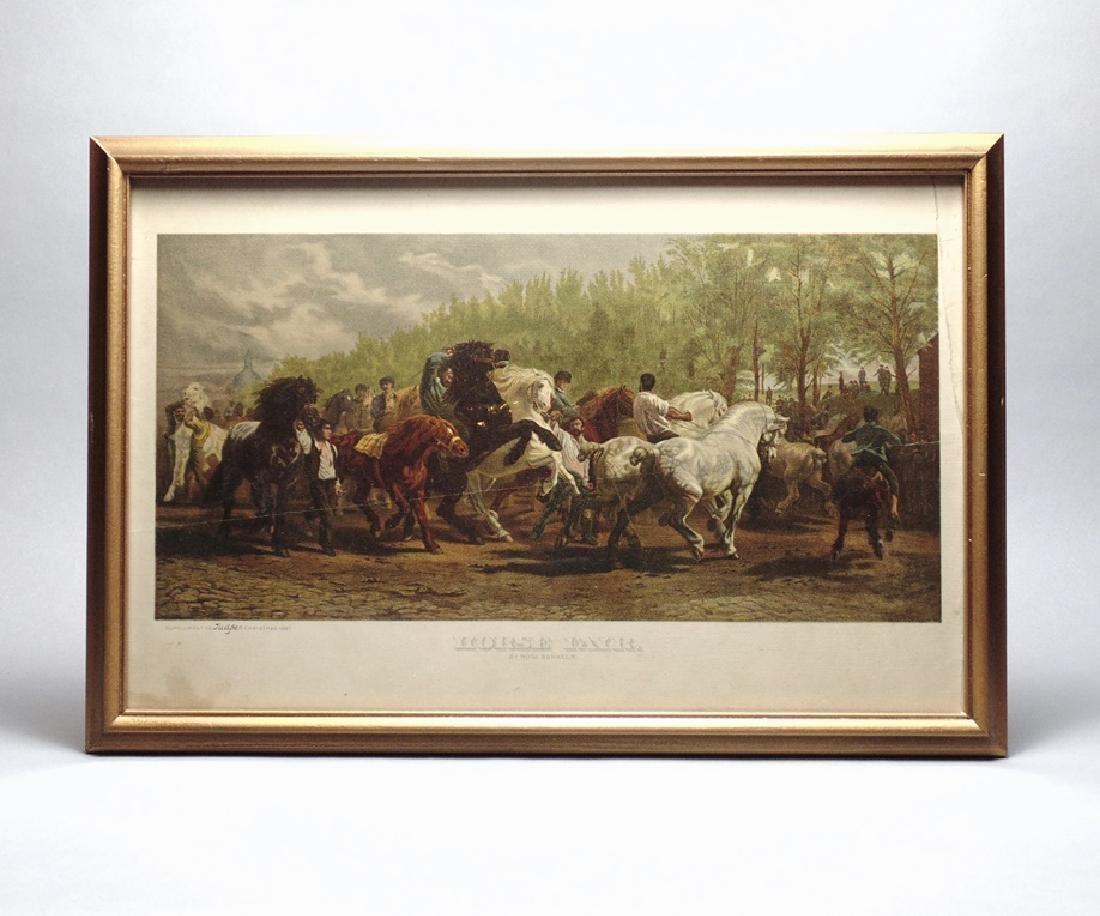 "Rosa Bonheur's ""Horse Fair"", litho, 1887"