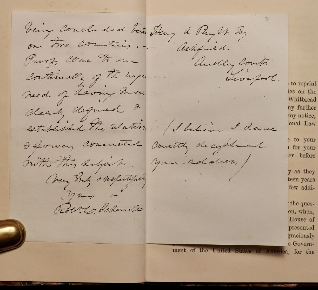 [Civil War, Rob. Schenck, Maritime, Book & Letter] - 2