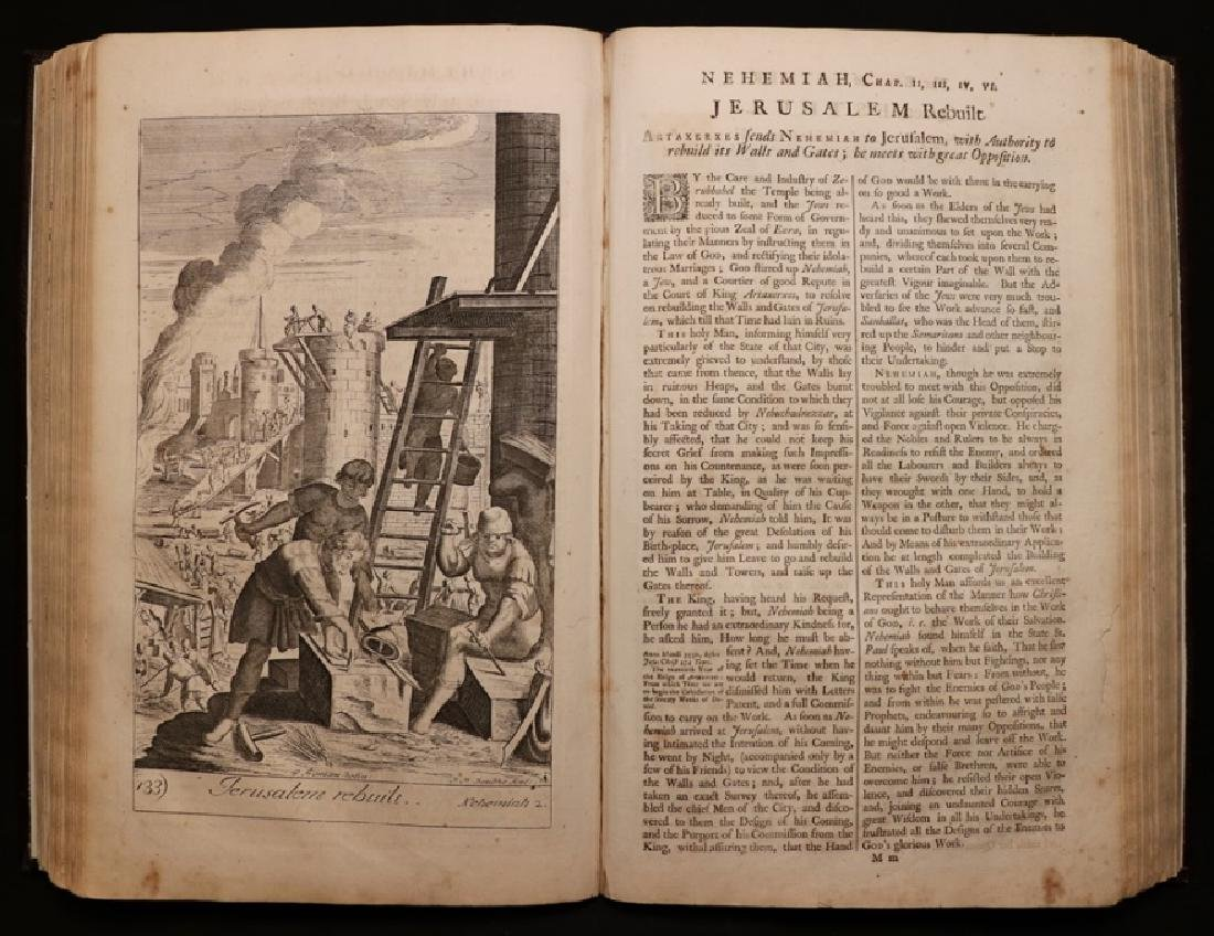 Blome's History of the Bible, 1754, Plates
