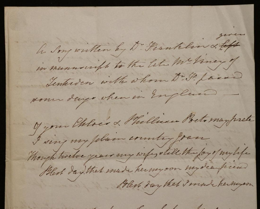 Ben Franklin, Manuscript Song - 2