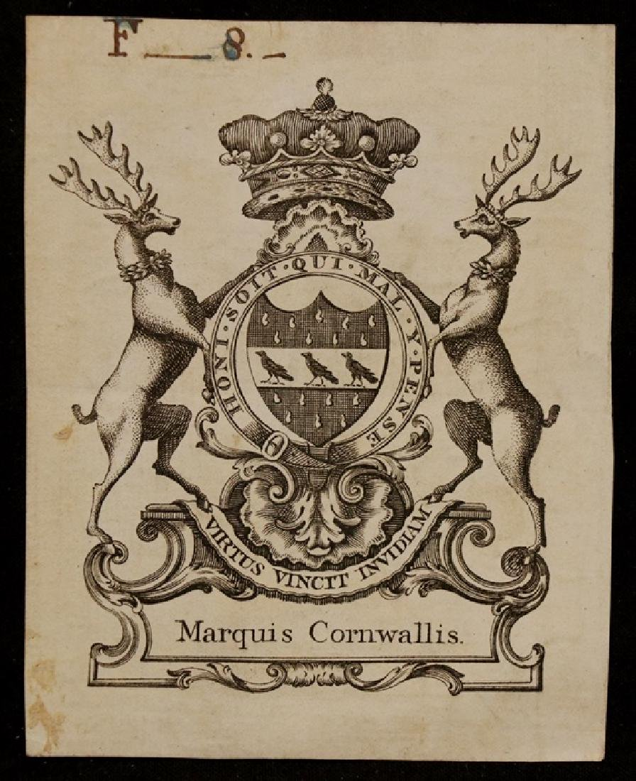 General Charles Cornwallis Bookplate