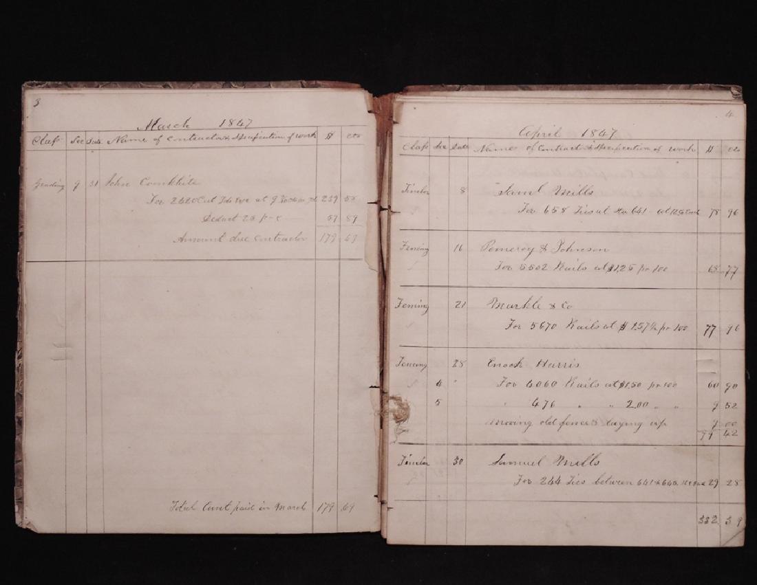 [Michigan Central Railroad]  Ledger, 1847 - 3
