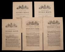 Acts Against Slavery 19th c Lot of 5