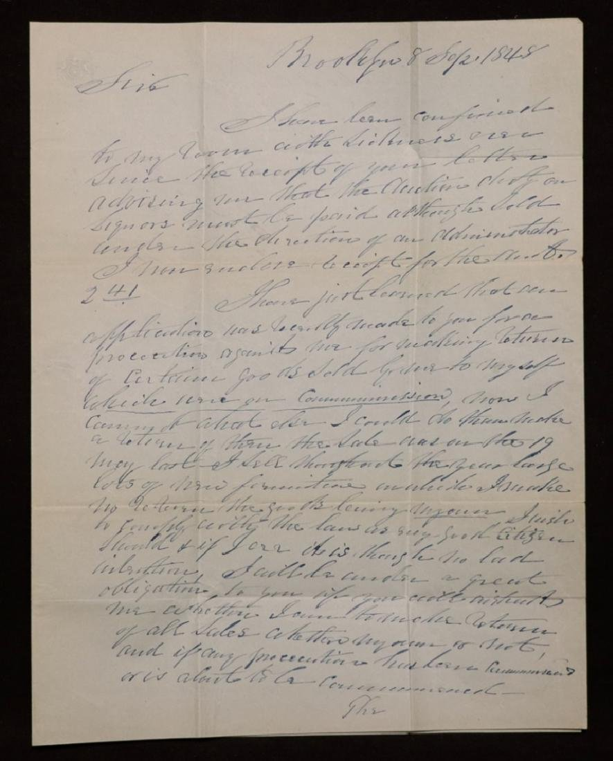 Manuscript Letter to Millard Fillmore