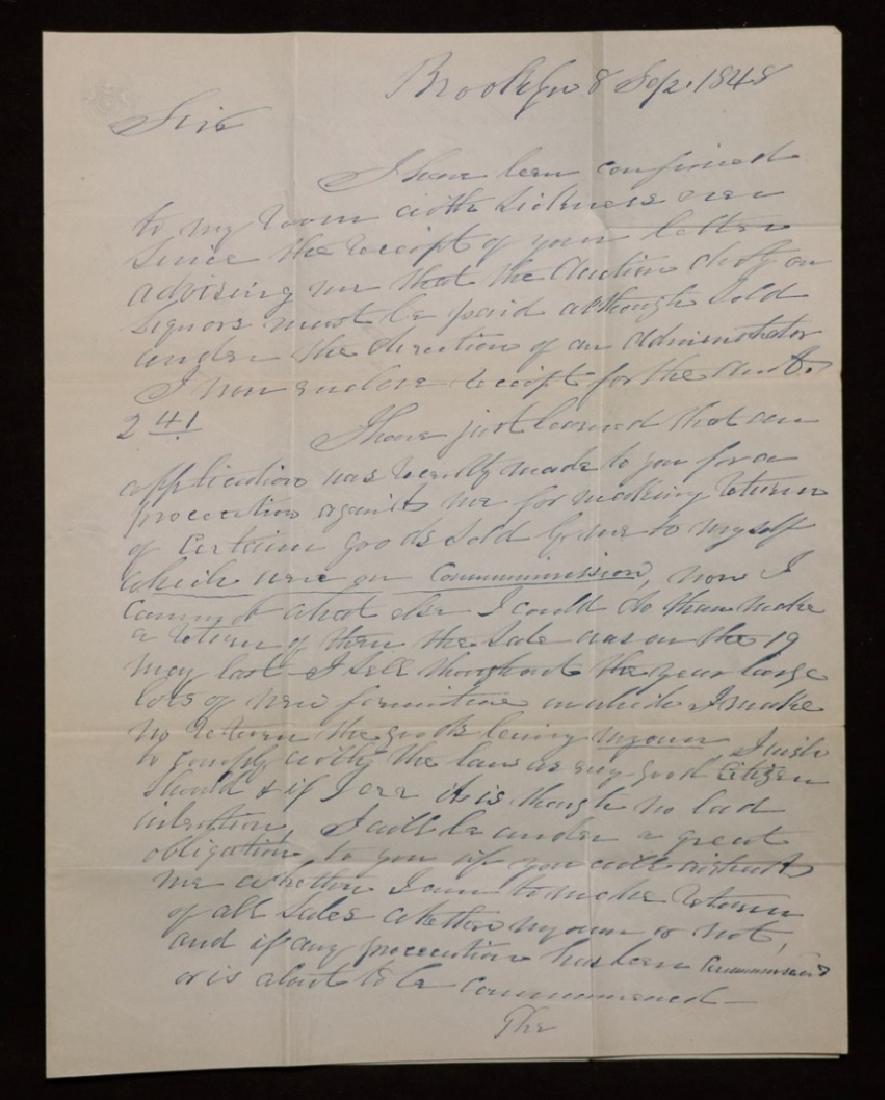 Manuscript Letter to Millard Fillmore