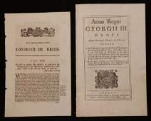 Americana  Pair of British Acts 18th  19th c