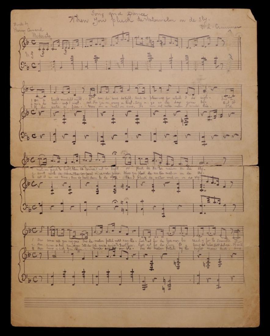 Manuscript Music, Minstrel Song