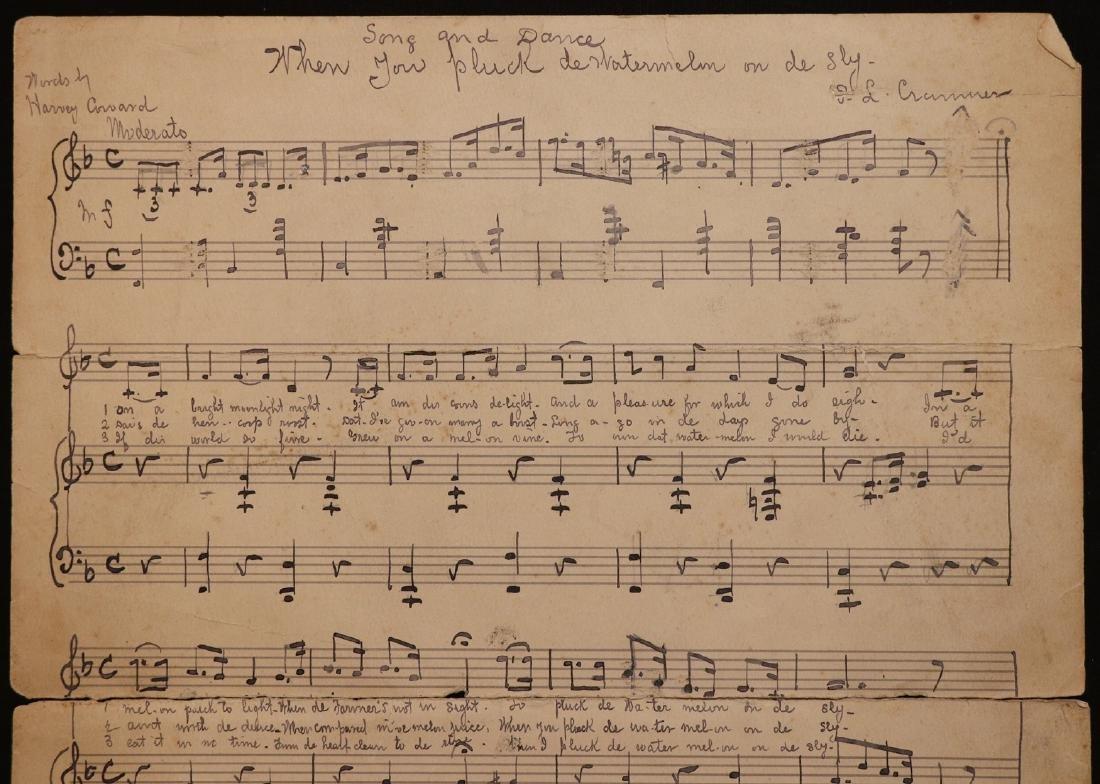 Manuscript Music, Minstrel Song - 2