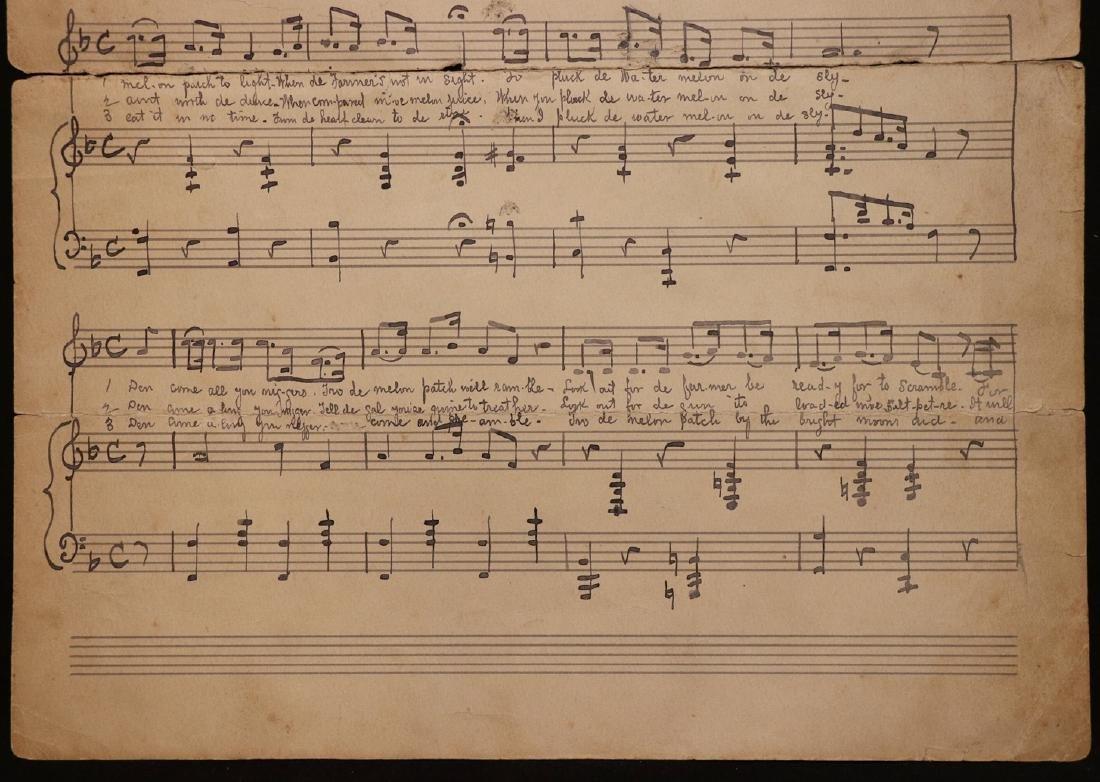 Manuscript Music, Minstrel Song - 3