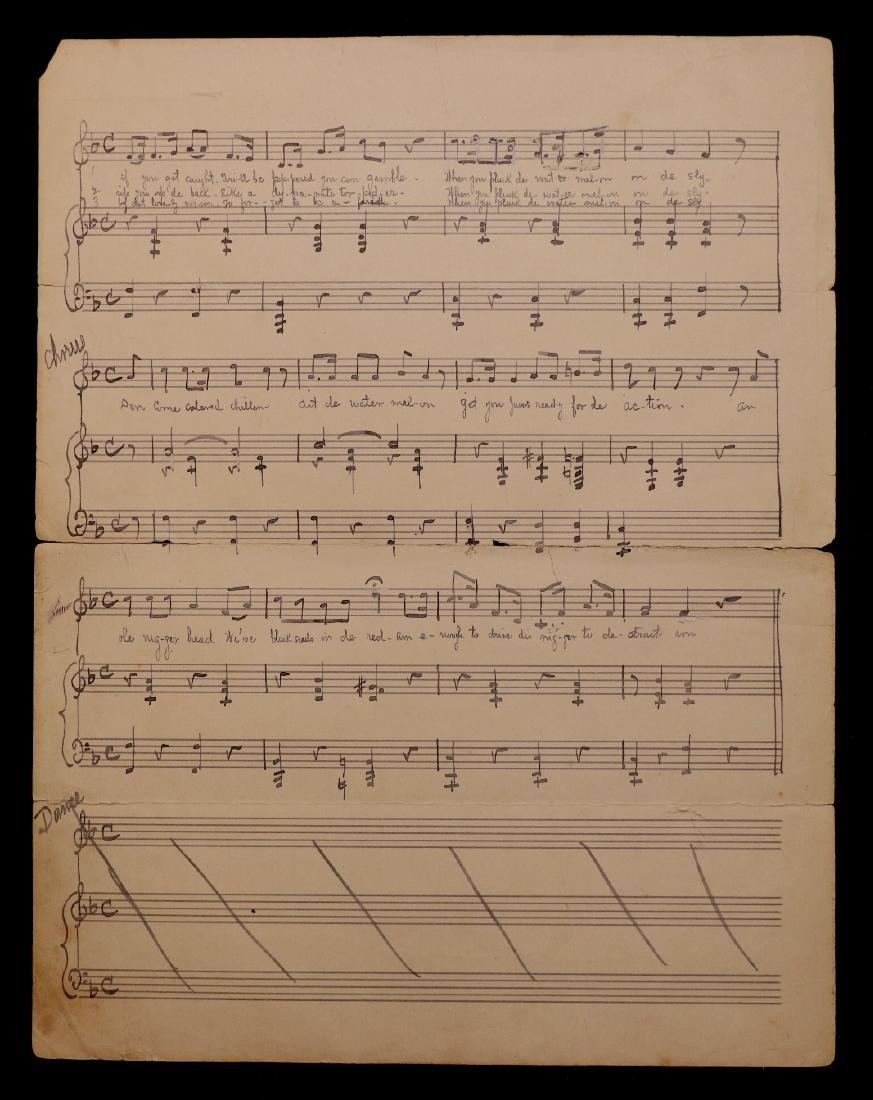 Manuscript Music, Minstrel Song - 4