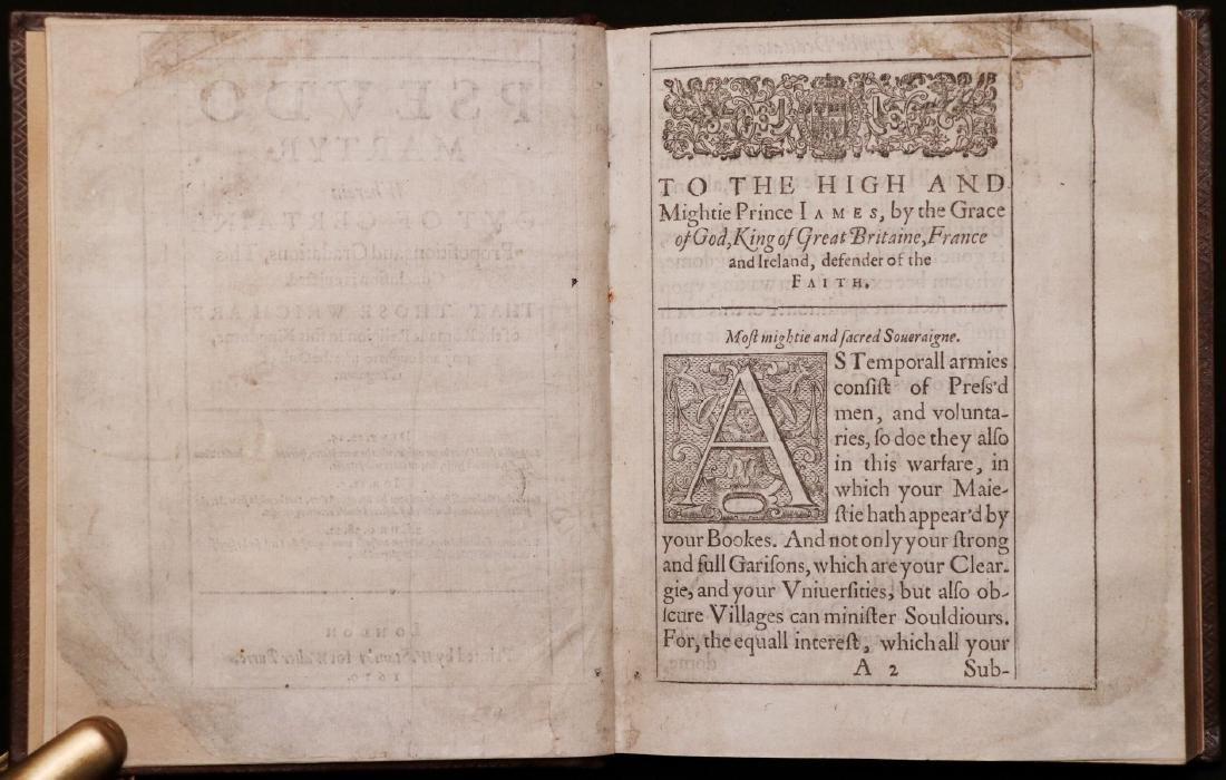John Donne.  Pseudo-Martyr, 1610, 1st Ed. - 5