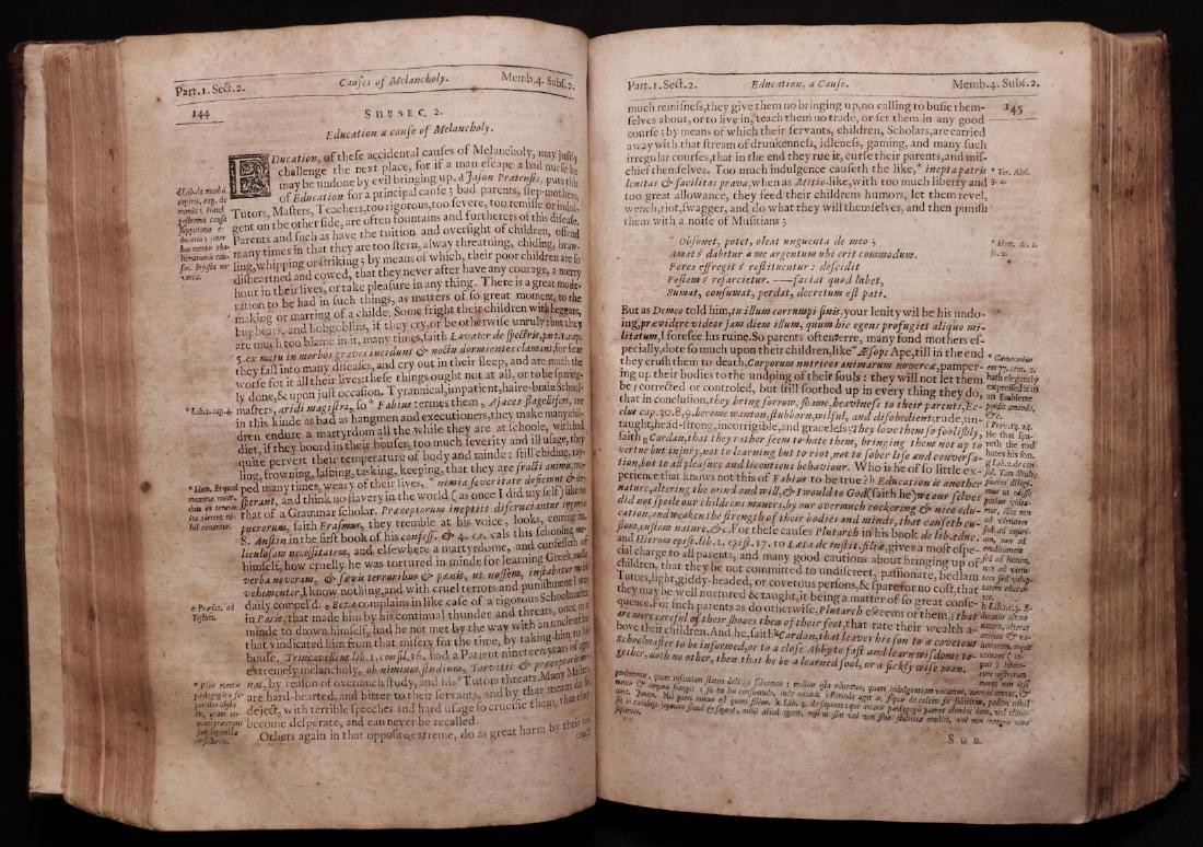 Burton's Anatomy of Melancholy, 1660 - 5