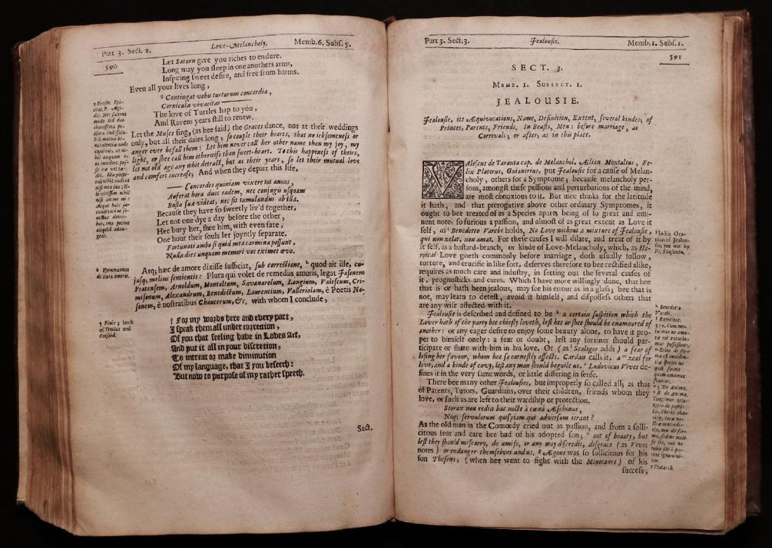 Burton's Anatomy of Melancholy, 1660 - 7