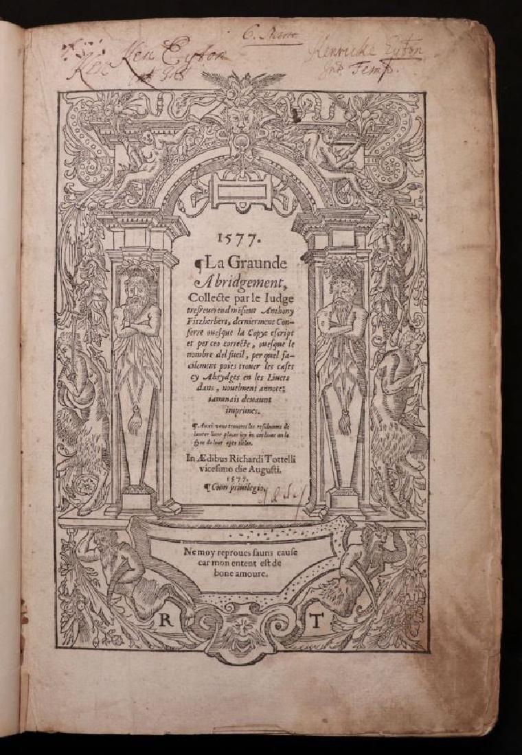 Fitzherbert on Common Law, 1577