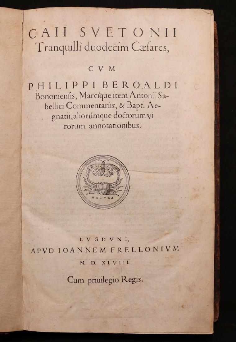 Suetonius, Twelve Caesars, 1548