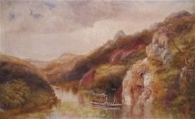 Upper Nile Uganda  Oil Painting  19th c