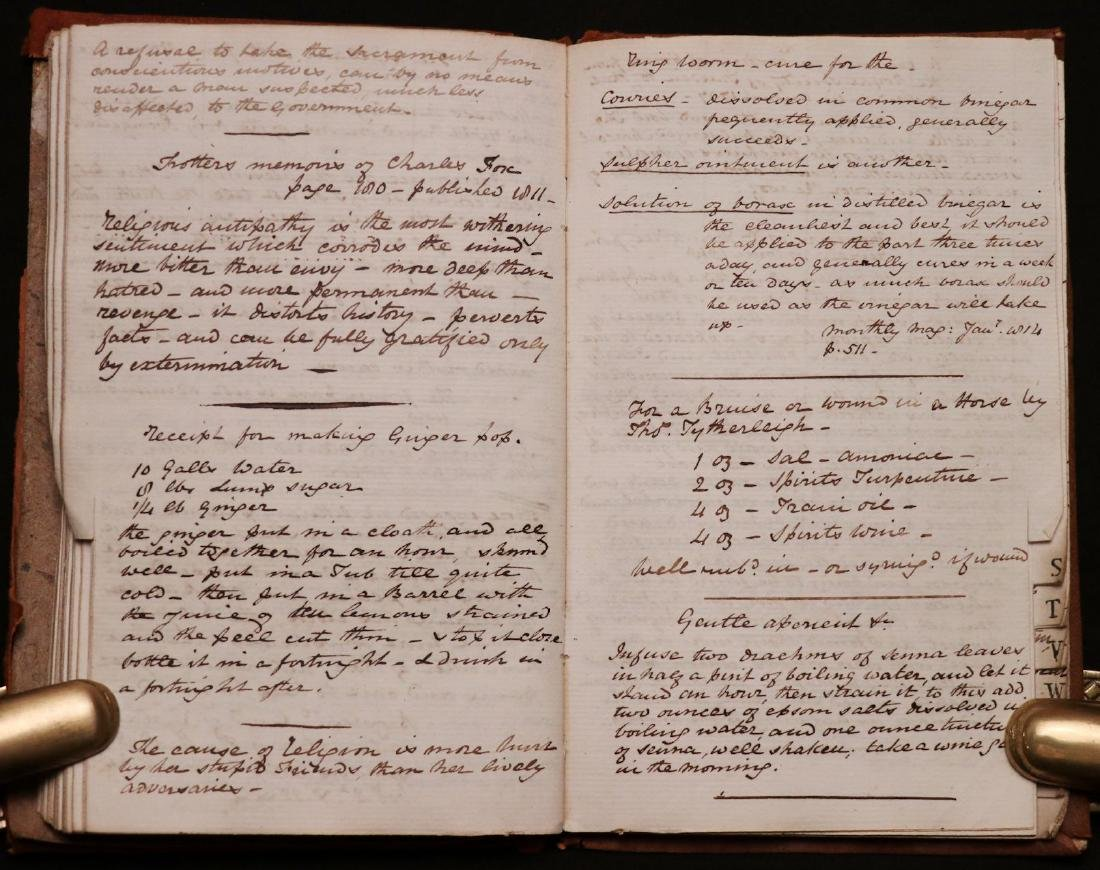 19th c. MS Commonplace Book - 4