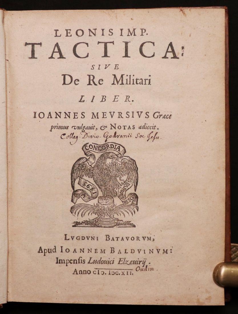 Leo VI, on Byzantine Military Tactics, 1612 - 3