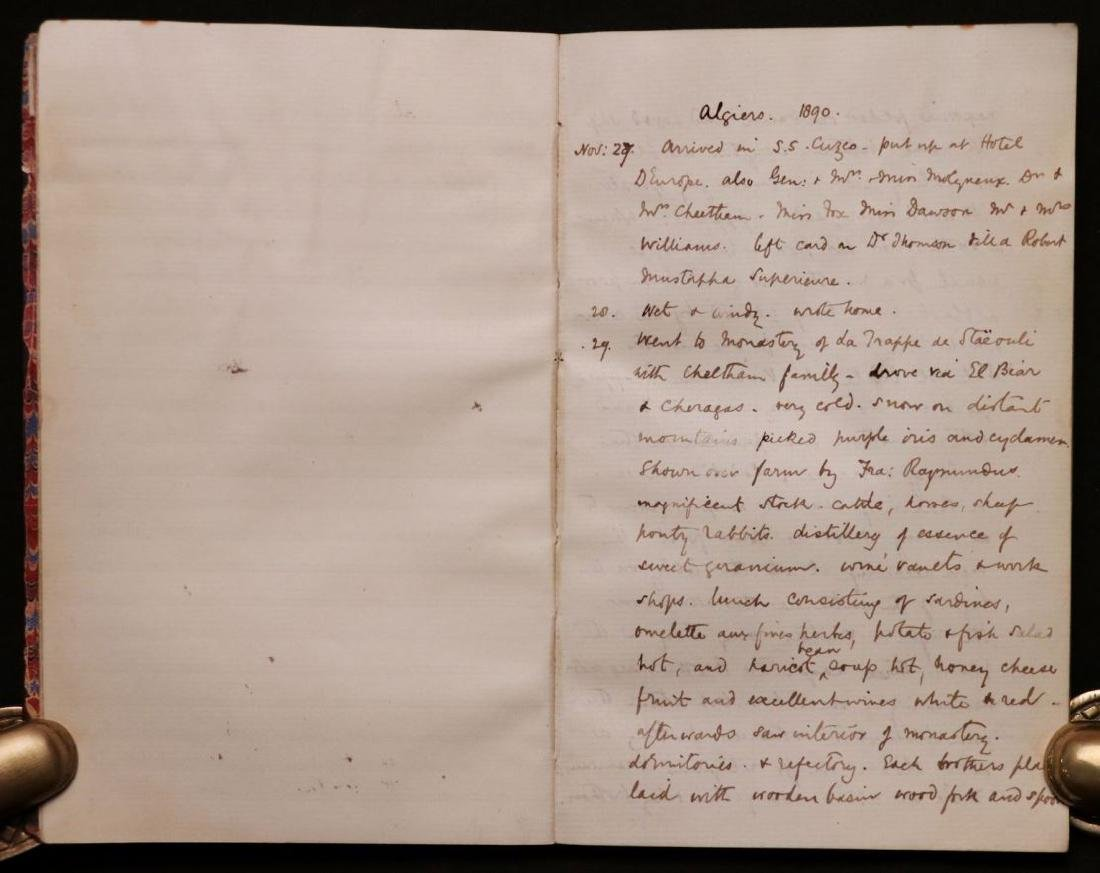 MS Journal of Trip to Algiers, 1890