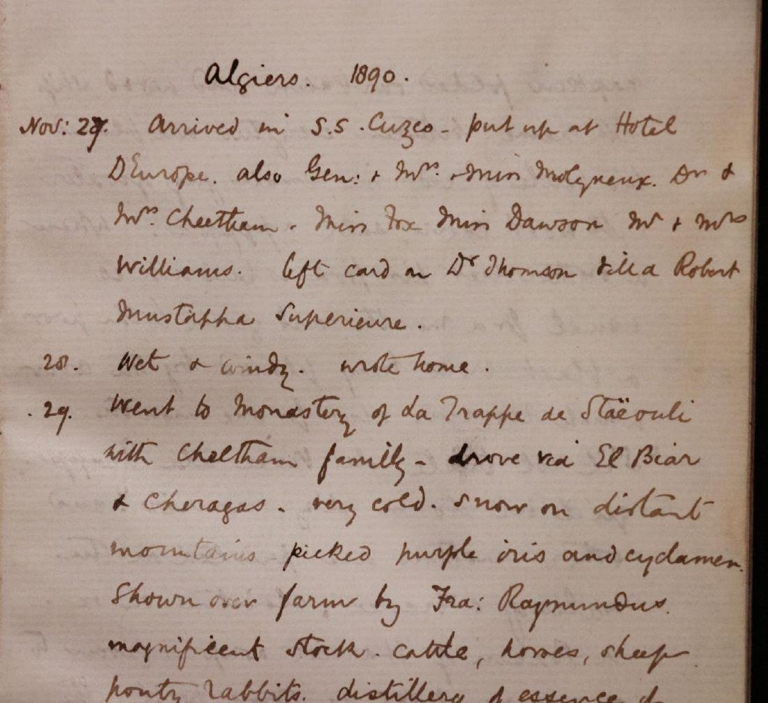 MS Journal of Trip to Algiers, 1890 - 2