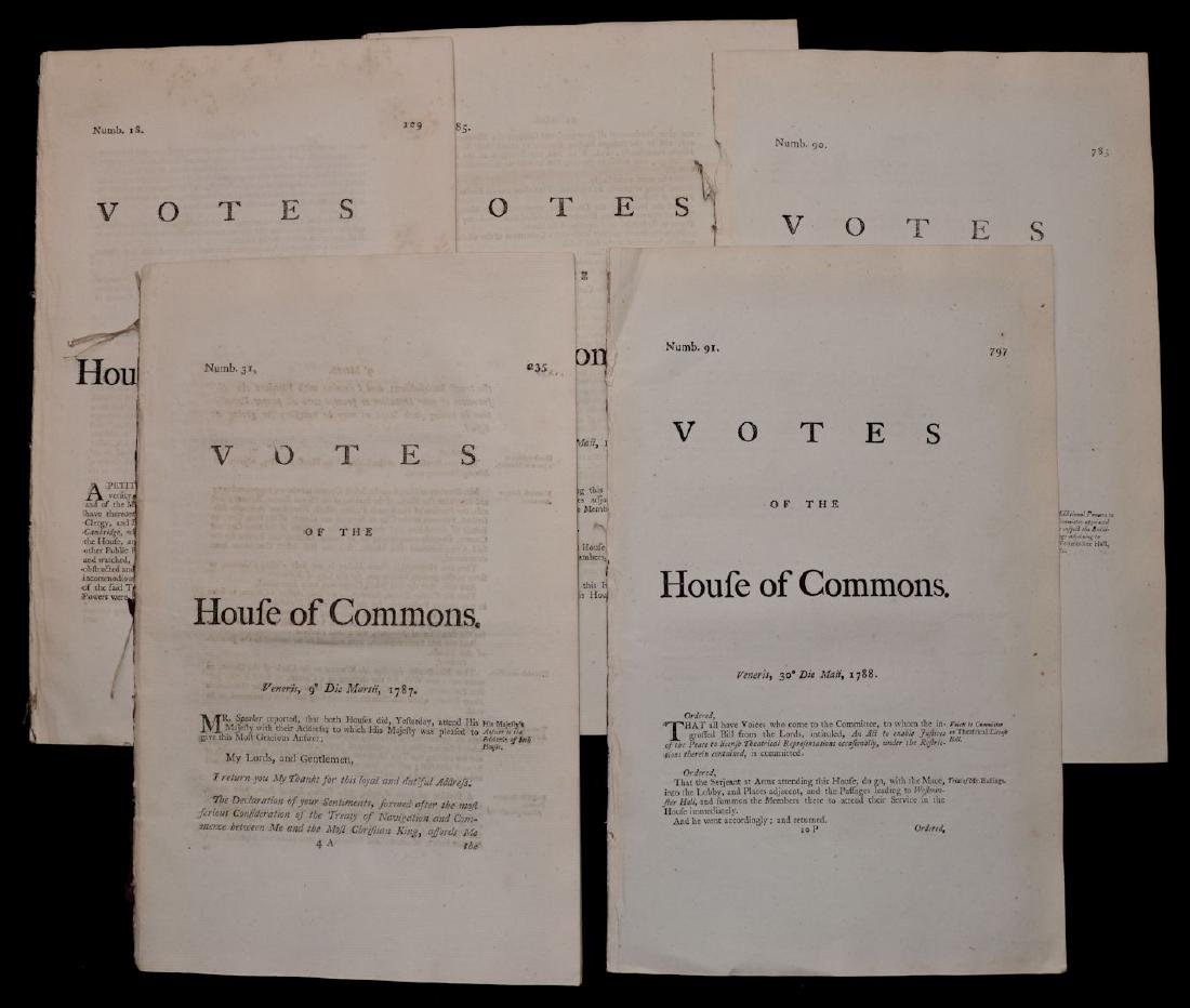 [British House of Commons, 18th c., Lot of 5]