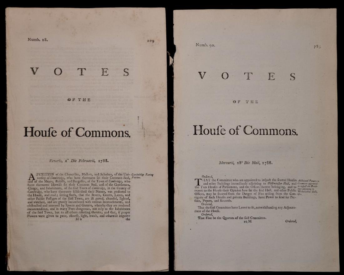 [British House of Commons, 18th c., Lot of 5] - 2